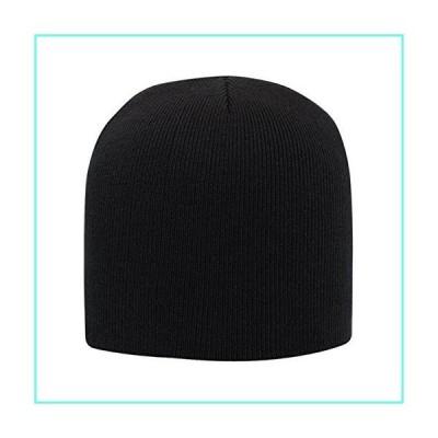 "Otto Caps Ultra Soft Acrylic Knit 8"" Beanies Black並行輸入品"
