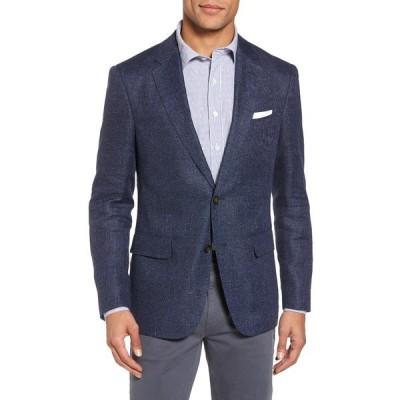 ロッドアンドガン メンズ ジャケット&ブルゾン アウター Fox Peak Linen & Wool Sport Coat MARINE