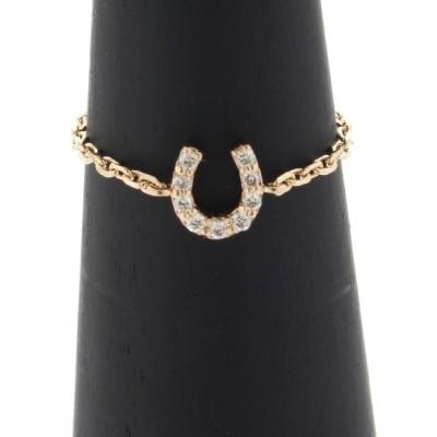 指輪 ダイヤモンド 馬蹄モチーフ チェーンピンキーリング