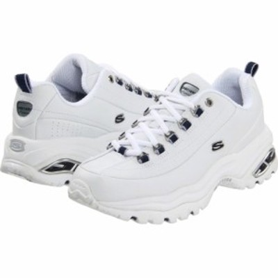 スケッチャーズ SKECHERS レディース シューズ・靴 Premiums White Smooth Leather/Navy Trim