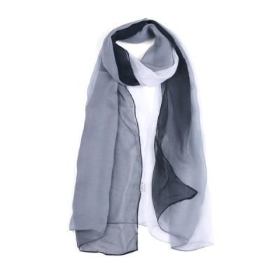 uxcell ロングスカー シフォン 軽量 春夏 薄手 女性用 ブラック/ホワイト 16x5cm