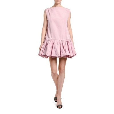 ヴァレンティノ レディース ワンピース トップス Drop-Waist Poplin Shift Dress