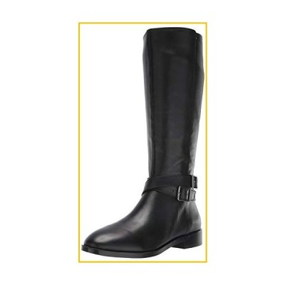 Aerosoles Women's Julia Equestrian Boot, Black Leather, 6 M US