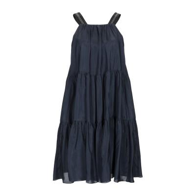 ブルネロ クチネリ BRUNELLO CUCINELLI ミニワンピース&ドレス ダークブルー M シルク 100% / 真鍮/ブラス / エコブラ