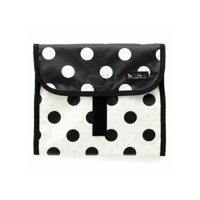 いつでも安心お出かけおむつポーチ(クラッチタイプ) polka dot large(black) B1405000 日本製