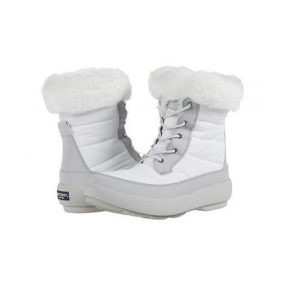 Sperry スペリー レディース 女性用 シューズ 靴 ブーツ スノーブーツ Bearing PlushWave Boots Nylon - Off-White/Grey