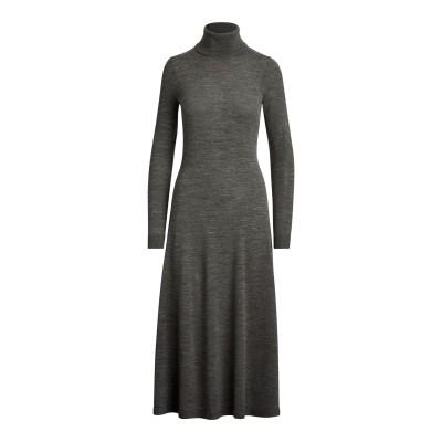 LAUREN RALPH LAUREN 7分丈ワンピース・ドレス グレー S ウール 100% 7分丈ワンピース・ドレス