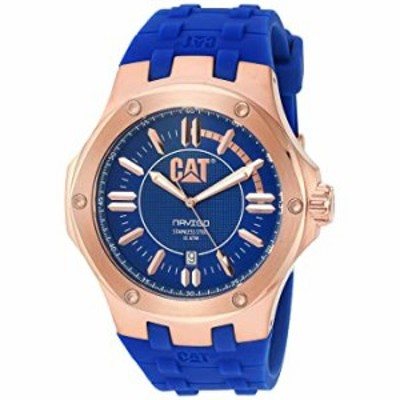 腕時計  CAT WATCHES Men's 'Navigo' Quartz Stainless Steel and Rubber Watch, Color:Blue (Model: A119126629)