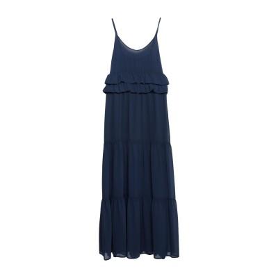 KAOS JEANS ロングワンピース&ドレス ダークブルー 46 ポリエステル 100% ロングワンピース&ドレス