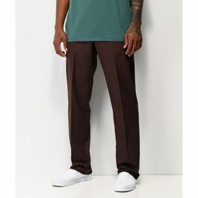 ディッキーズ DICKIES メンズ チノパン ワークパンツ スキニー・スリム ボトムス・パンツ Dickies Flex Chocolate Slim Chino Work Pants