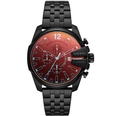 ディーゼル 腕時計 アクセサリー メンズ Men's Baby Chief Chronograph Black Stainless Steel Bracelet Watch 43mm Black