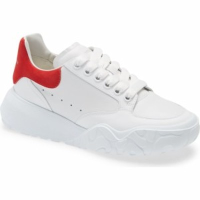アレキサンダー マックイーン ALEXANDER MCQUEEN レディース スニーカー ローカット シューズ・靴 Oversized Low Top Sneaker Red/White