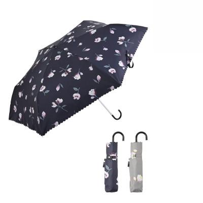 晴雨兼用 折りたたみ遮光日傘ミニ マグノリア フェリシモ FELISSIMO