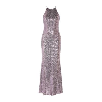 BADGLEY MISCHKA ロングワンピース&ドレス グレー 8 ナイロン 100% ロングワンピース&ドレス