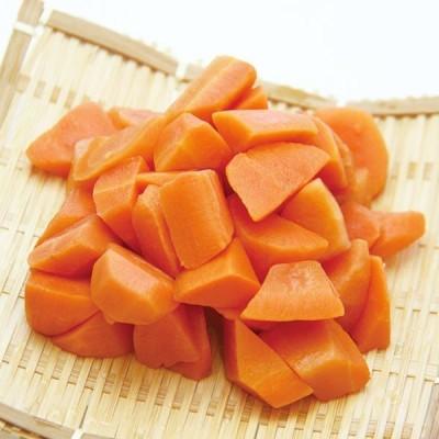 冷凍食品 業務用 人参乱切り IQF 500g (約60〜70個入) 18078 弁当 簡単 時短 にんじん ニンジン カット 野菜