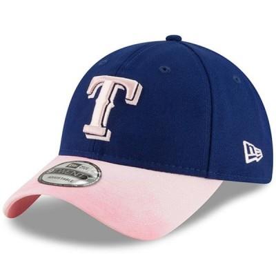 ユニセックス スポーツリーグ メジャーリーグ Texas Rangers New Era Mother's Day 9TWENTY Adjustable Hat - Royal/Pink - OSFA 帽子
