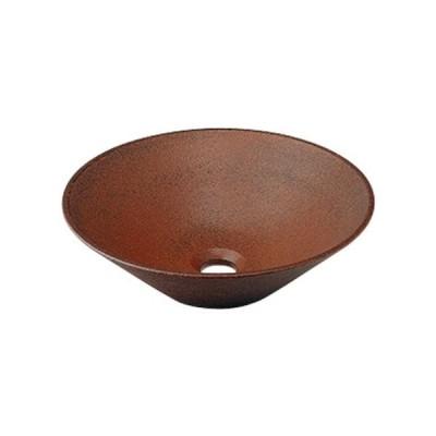 カクダイ 丸型手洗器(窯肌) 493-037-M