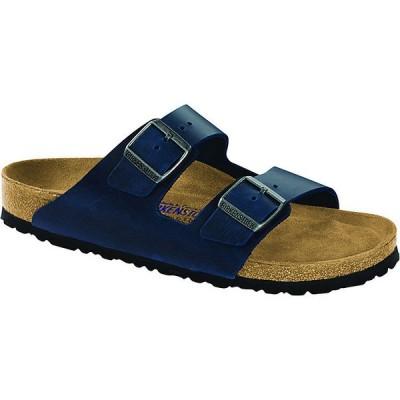 ビルケンシュトック サンダル レディース シューズ Birkenstock Arizona Soft Footbed Sandal Blue Oiled Leather