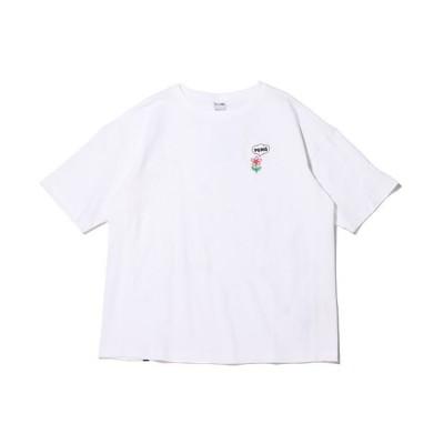 【アトモス】 プーマ ダウンタウン グラフィック ティーシャツ レディース ホワイト XS atmos