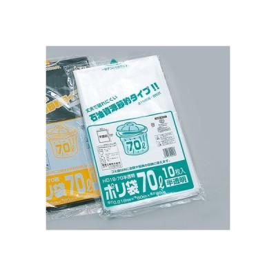 厚み0.015×巾800×長さ900mm福助工業 業務用ポリ袋(70L) EH15-70 半透明 (600枚)