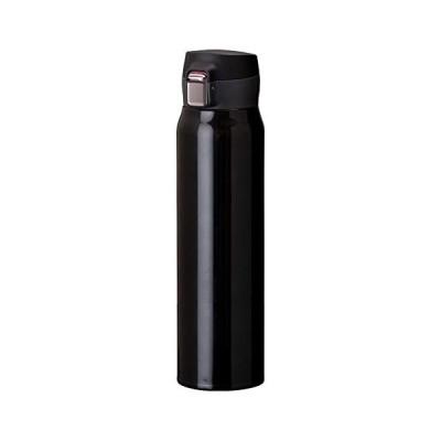 Atlas(アトラス) 水筒 【Airlist】中栓が分解できる 超軽量 ワンタッチボトル 国内最軽量クラス スポーツドリンク対応 800ml ブラッ