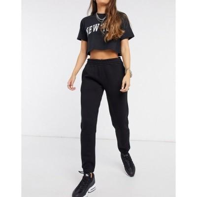 チェルシーピア レディース カジュアルパンツ ボトムス Chelsea Peers Exclusive organic cotton heavy weight lounge sweatpants in black Black