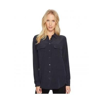 EQUIPMENT イクイップメント レディース 女性用 ファッション ボタンシャツ Slim Signature Blouse - Eclipse