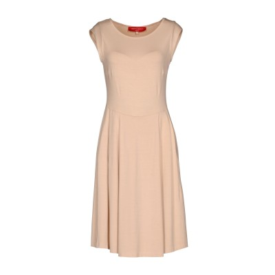 CRISTINA ROCCA ミニワンピース&ドレス サンド 44 95% レーヨン 5% ポリウレタン ミニワンピース&ドレス