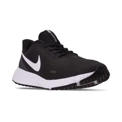 ナイキ スニーカー シューズ メンズ Men's Revolution 5 Running Sneakers from Finish Line Black, White, Anthracite