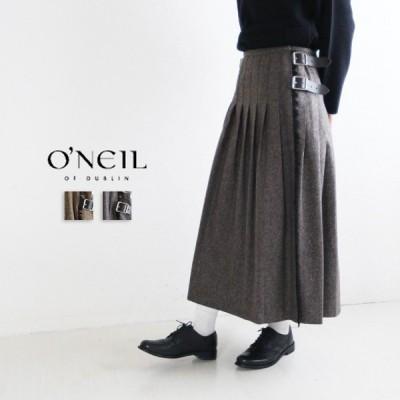 オニール ONEIL NOD1950 ネッププリーツラップスカート プリーツスカート  ウール  ゆったり ファッション プミラ pumila ナチュラル レディース