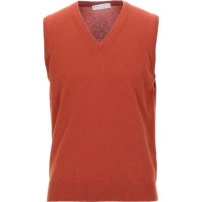 フィリッポ デ ローレンティス FILIPPO DE LAURENTIIS メンズ ニット・セーター トップス cashmere blend Rust