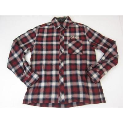 《メンズトップス》Subciety サブサエティー 刺繍入り ネルシャツ SIZE:M メンズ ストリート系 衣類 中古