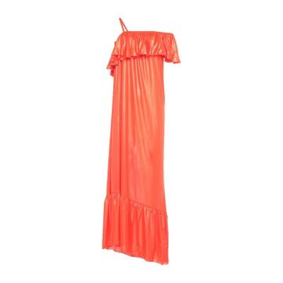 4GIVENESS ロングワンピース&ドレス オレンジ S ポリエステル 100% ロングワンピース&ドレス