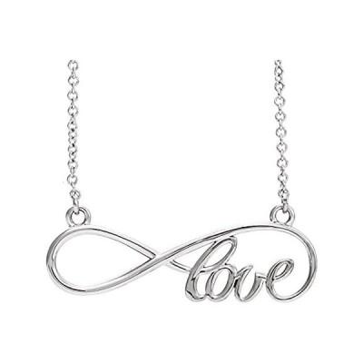 """新品  Sterling Silver Love Infinity-Inspired 17"""" Necklace  並行輸入品"""