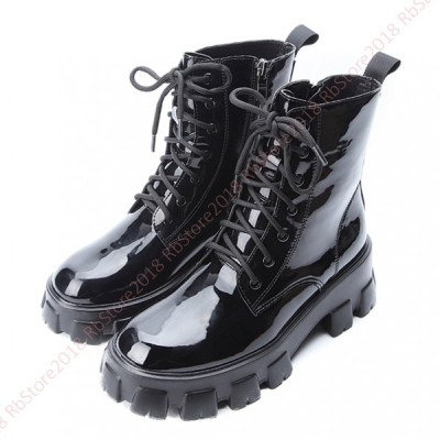 ブーティ レディース 本革 おしゃれ  革靴  レースアップ シューズ  マーティンブーツ ラウンド トゥ   履きやすい ローヒール  防滑 疲れない シンプル