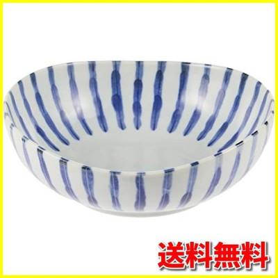(アウトレット込み)染付け ダミ十草 5.5寸鉢