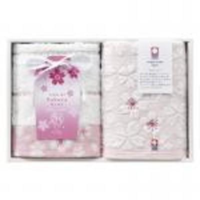 【新品/取寄品】【特選商品】今治 桜ふるる ウォッシュタオル2P B-0210