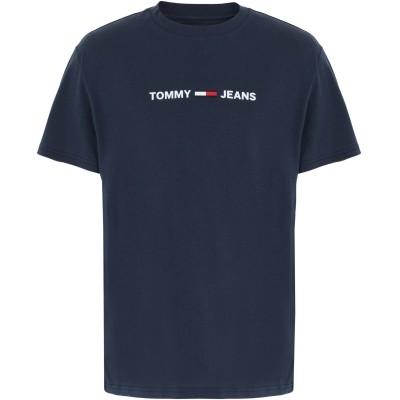 TOMMY JEANS T シャツ ダークブルー S コットン BCI 100% T シャツ