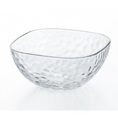 石塚硝子 ISHIZUKA GLASS アデリアグラス ADERIA GLASS キュラソースクエア 深鉢L P6410 3個セット 中鉢