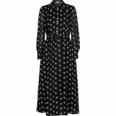 トリー バーチ Tory Burch レディース ワンピース ミドル丈 ワンピース・ドレス Artist floral cotton midi dress Black Ivory