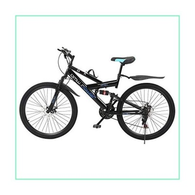GFHFHITJ Carbon Steel Mountain Bikes - 26in Outroad Mountain Bike - Shimanos21 Speed Bicycle Full Suspension MTB - Best Gifts (Black)【並行輸入