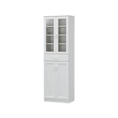 白井産業/セシルナ カップボード W566 ホワイト/CEC-1855DGHF