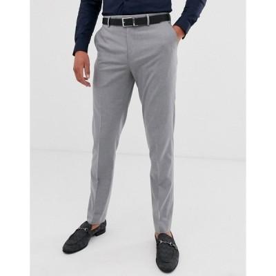 エイソス メンズ カジュアルパンツ ボトムス ASOS DESIGN skinny smart pants in gray Grey