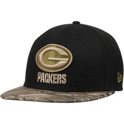ニューエラ メンズ 帽子 アクセサリー Green Bay Packers New Era Rambo 59FIFTY Fitted Hat Black/Realtree Camo