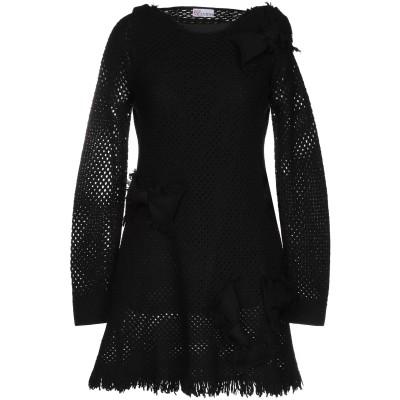 レッド ヴァレンティノ REDValentino ミニワンピース&ドレス ブラック XS バージンウール ミニワンピース&ドレス