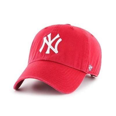 47 Brand リラックスフィット キャップ - CLEAN UP ニューヨーク・ヤンキース (New York Yankees) 赤