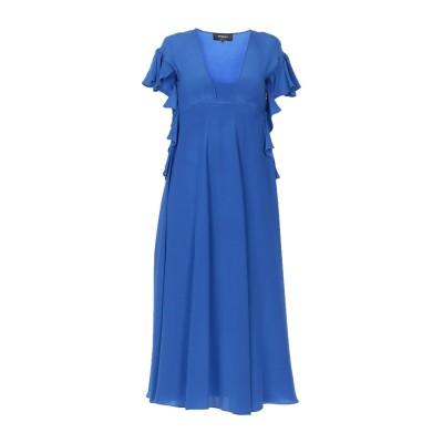 ロシャス ROCHAS 7分丈ワンピース・ドレス ブルー 40 シルク 100% 7分丈ワンピース・ドレス