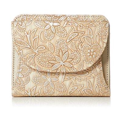 [アルカン] 二つ折れ財布 クレア ベージュ