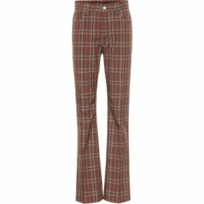メゾン マルジェラ MM6 Maison Margiela レディース ボトムス・パンツ Checked wool-blend pants Brown Check