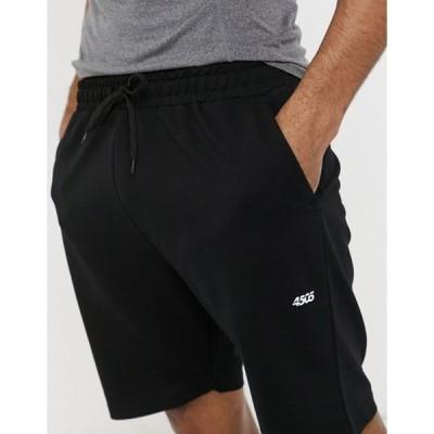 エイソス メンズ ハーフパンツ・ショーツ ボトムス ASOS 4505 icon training sweat shorts in black